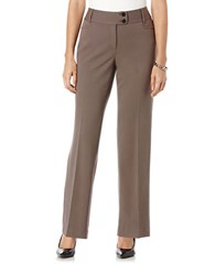 Rafaella Petite Pleated Flare Leg Pants Earth