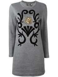Fausto Puglisi Arabesque Applique Dress Grey