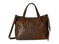 Patricia Nash Zola Top Zip Tote Satchel Chocolate Satchel Handbags Brown