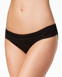 Becca Prairie Rose Lace Hipster Bikini Bottoms Women's Swimsuit Black