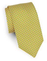 Brooks Brothers Classic Sailboat Silk Tie Yellow