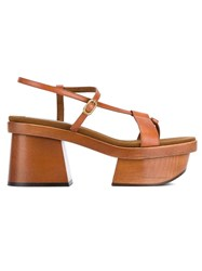 Stella Mccartney Atlea Platform Sandals Brown