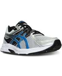 Asics Men's Gel Contend 3 Wide Running Sneakers From Finish Line Silver Electric Blue Blac