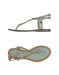 Pepe Jeans Thong Sandals Black