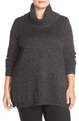 Plus Size Women's Ellen Tracy Cowl Neck Sweater Black