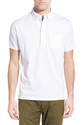 Men's Relwen 'Lake Superior' Pima Cotton Polo White