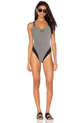 Unif Cj One Piece Swimsuit Black And White