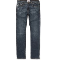 Frame L'homme Skinny Fit Distressed Stretch Denim Jeans Indigo