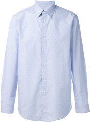 Jil Sander Embroidered Pinstripe Shirt White