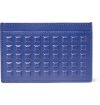 Balenciaga Studded Leather Cardholder Blue