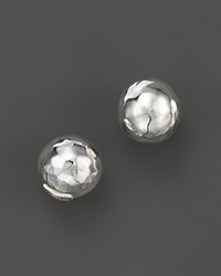 Ippolita Glamazon Sterling Silver Hammered Ball Stud Earrings White