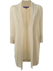 Ralph Lauren Fold Quarter Sleeve Draped Cardigan Coat Nude And Neutrals