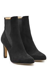 Paul Andrew Suede High Heel Chelsea Boots Black