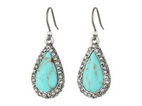 Lucky Brand Teardrop Turquoise Pave Earrings Silver Earring