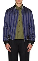 Burberry X Barneys New York Men's Striped Silk Twill Bomber Jacket No Color