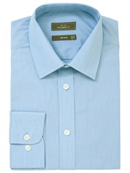 John Lewis Fine Stripe Long Sleeve Shirt Blue