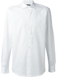 Dolce And Gabbana Embroidered Crown Shirt White