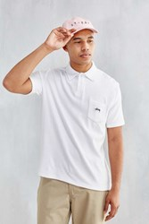 Stussy Terry Fleece Polo Shirt White