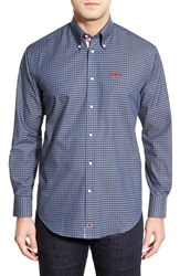 Men's Thomas Dean 'Ole Miss Rebels' Regular Fit Long Sleeve Gingham Sport Shirt