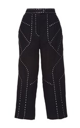Andrew Gn High Waisted Cropped Trousers Black