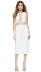 Endless Rose Lattice Lace Jumpsuit White