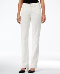 Nydj Marilyn Corduroy Straight Leg Pants Winter White