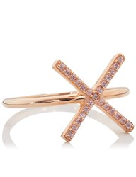 Aamaya By Priyanka Rose Gold Vermeil X Ring