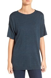 Eileen Fisher Women's Merino Wool Jersey Round Neck Tunic Fir