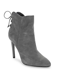 French Connection Monay Laced Zip Booties Volcano Grey