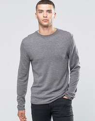 Sisley Fine Knitted Jumper With Reverse Seam Detail Grey 507