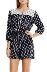 Women's Two By Vince Camuto Foulard Print Cotton Romper