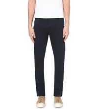 Hugo Boss Slim Fit Tapered Trousers Navy