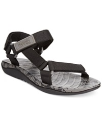 Cougar Jade 1 Flat Sandals Women's Shoes Black Hibiscus