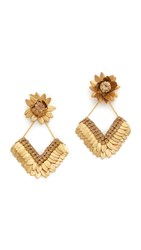 Deepa Gurnani By Amanda Earrings Gold