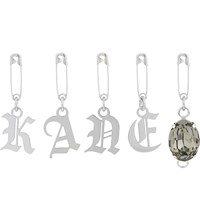 Christopher Kane Safety Pin Letters Silver