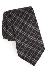 Men's Todd Snyder White Label Plaid Wool And Silk Tie Black
