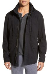 Men's James Perse Utility Jacket With Packable Hood Black