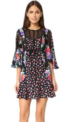 Nanette Lepore Wildflower Dress Black Multi
