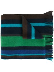 Paul Smith Ps By Striped Scarf Multicolour