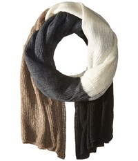 Steve Madden Color Block Blanket Wrap Neutral Scarves