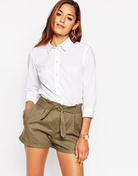 Asos 3 4 Sleeve White Shirt White