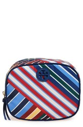 Tory Burch 'Ella' Stripe Cosmetics Case Blanket Stripe Diagonal