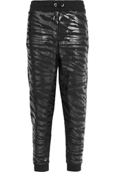 Kenzo Printed Cotton Jersey Track Pants Black