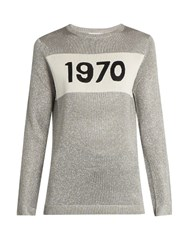 Bella Freud 1970 Sparkle Sweater Silver