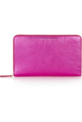 Marc By Marc Jacobs Sophisticato Metallic Textured Leather Wallet