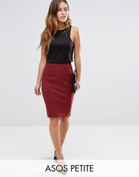 Asos Petite High Waisted Pencil Skirt Red