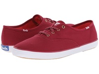 Keds Champion Oxford Beet Red Canvas Women's Lace Up Casual Shoes