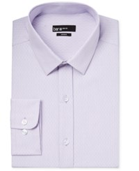 Bar Iii Men's Slim Fit Lavender Diamond Striped Dress Shirt Only At Macy's