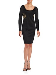 Versace Embellished Bodycon Dress Black