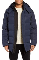 Andrew Marc New York Men's 'Polar' Water Resistant Embossed Down Parka Ink